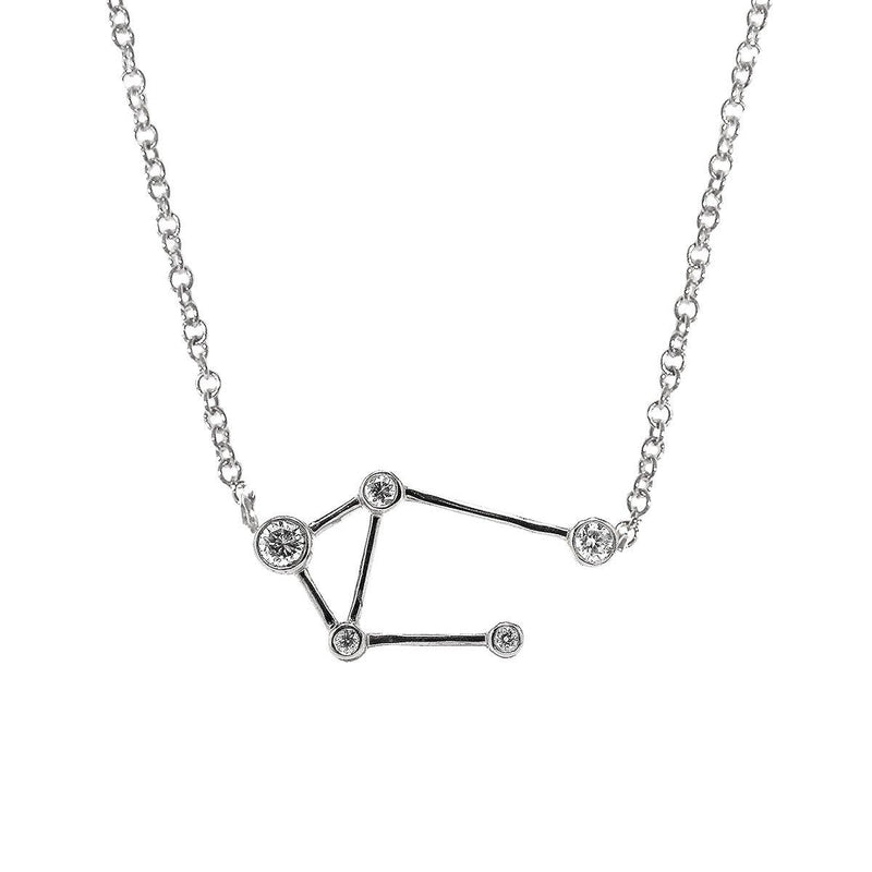 Libra Zodiac Necklace | 1.80GMS .10CT