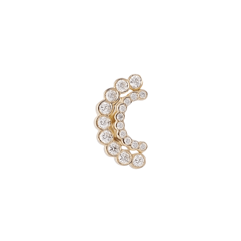 Lune Cachée Threader Stud | .5GMS .1CT | Single