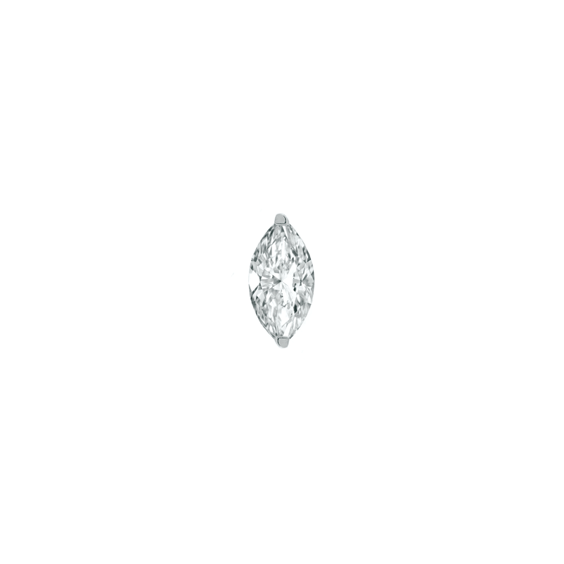 6mm Marquise Diamond Threader Stud | .3GMS .24CT | Single
