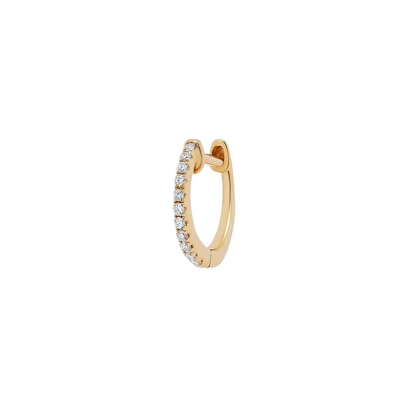 Medium Diamond Lock Hoop | 1.2GMS .08CT | Single