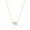 Mini Snake Necklace | 1.50GMS .10CT