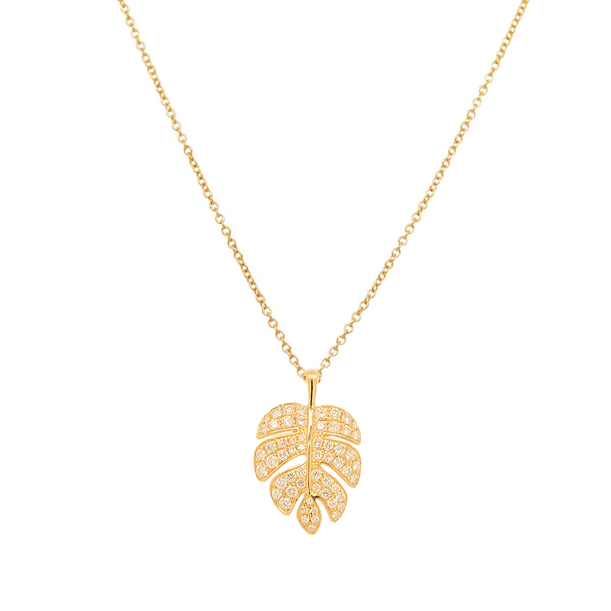 Palm Leaf Necklace | 2.1GMS .40CT