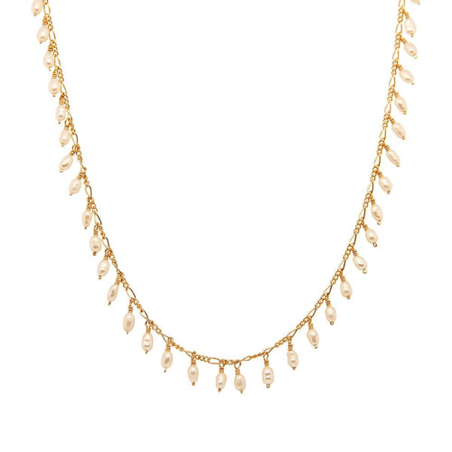 Fringe Pearl Necklace