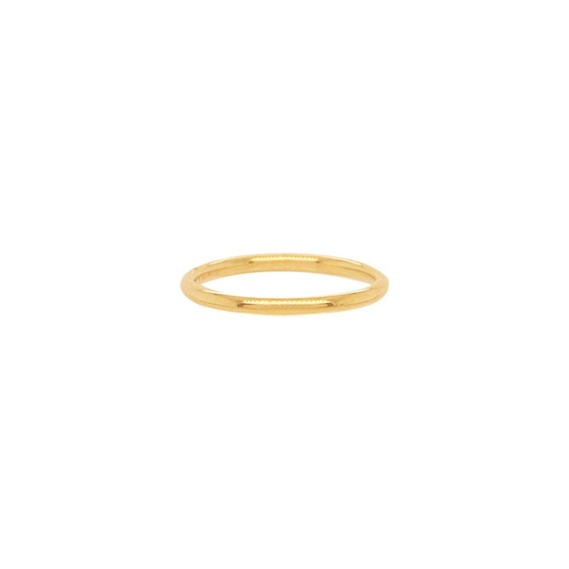 1MM Gold Pinky Ring | .90GMS