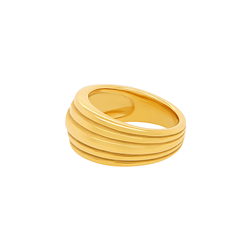 Rhythm Ring in Gold by Porter Lyons side view