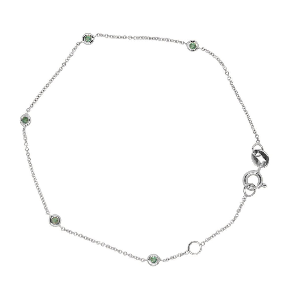 Sacred 5 Emerald Station Bracelet | 1GMS .09CT