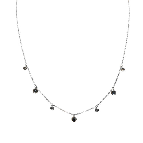 Sapphire Drop Necklace 2.05GM .28CT