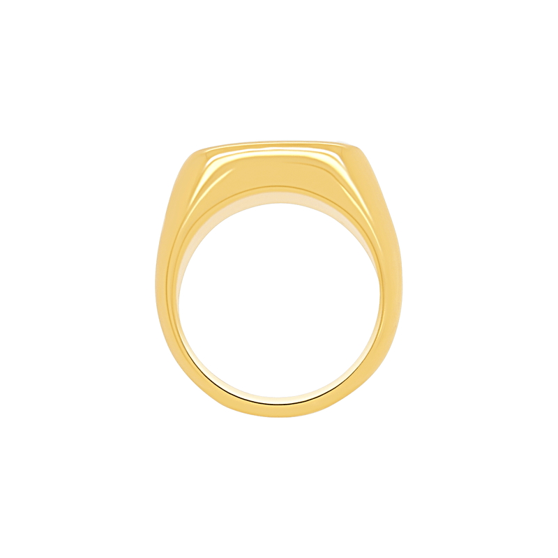 Signet Ring in Gold by Porter Lyons above view