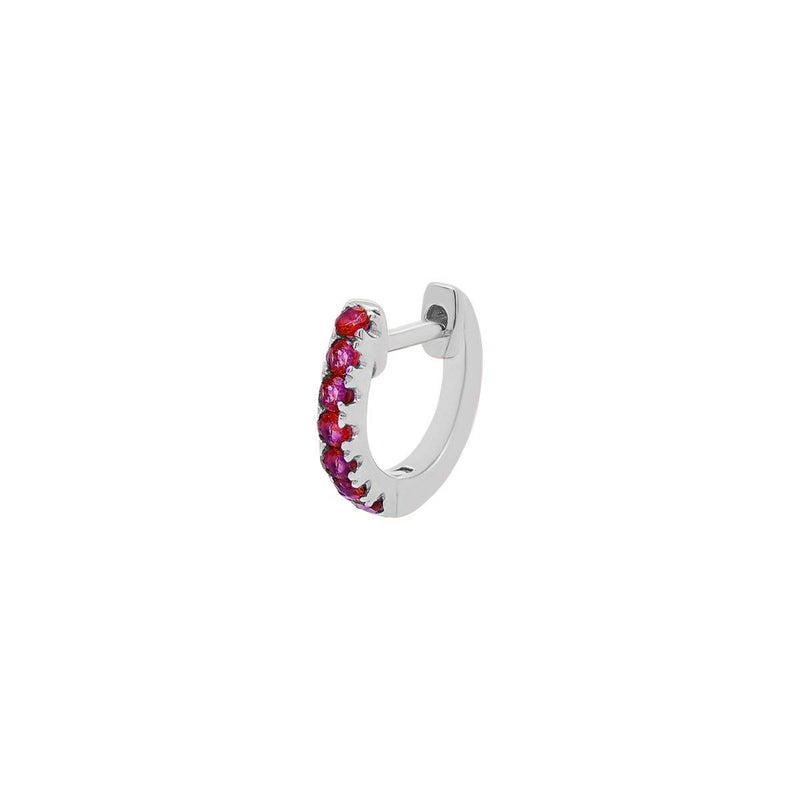 Small Ruby Lock Hoop | .55GMS .10CT | Single