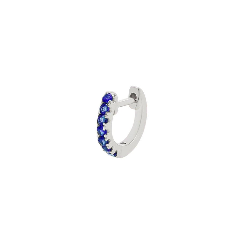 Small Sapphire Lock Hoop | .50GMS .10CT | Single