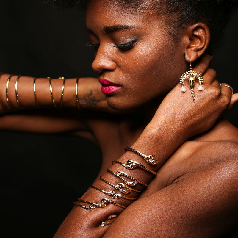 Snake Rada Bracelets with Baron Samedi Earrings