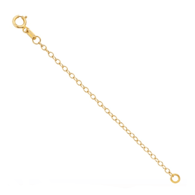 Solid 14K Yellow Gold Necklace and Bracelet Chain Extender