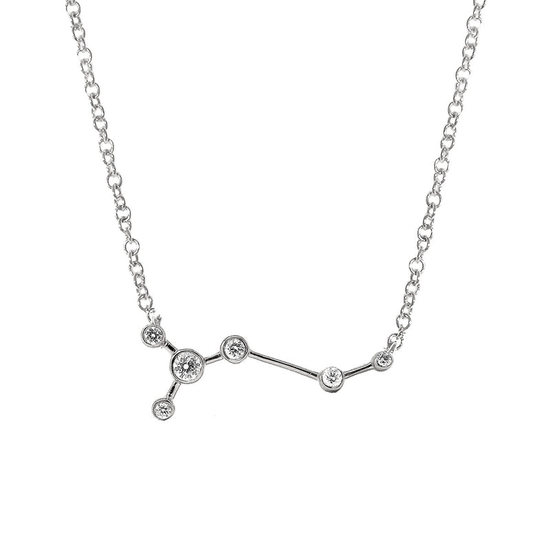 Taurus Zodiac Necklace | 1.70GMS .15CT