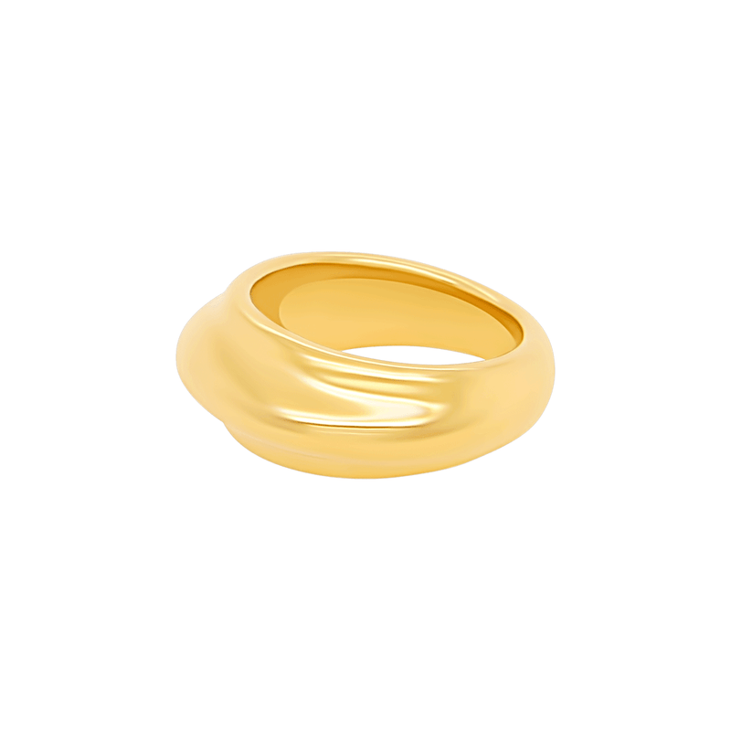 Timbre Ring in Gold by Porter Lyons side view