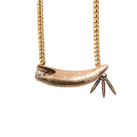 Cast Gator Tooth Necklace