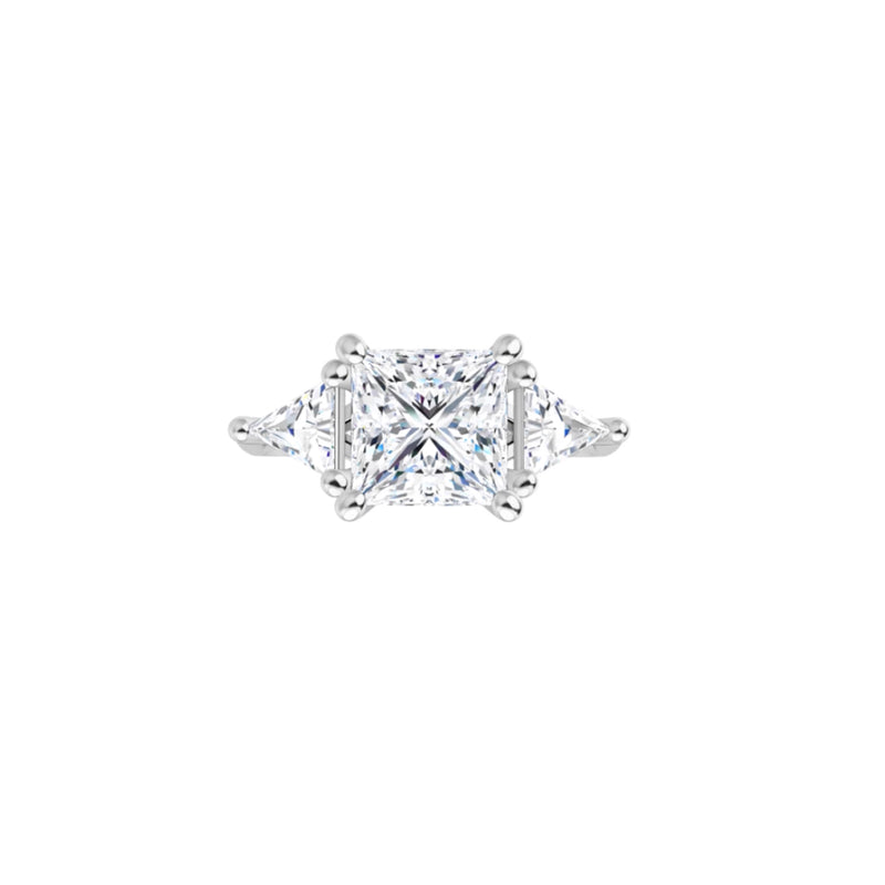 Trillion Trilogy Engagement Ring