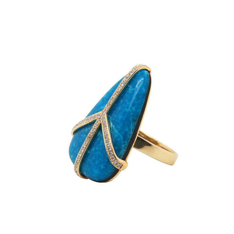 Turquoise Peace Ring | 4.2GMS  .25CT