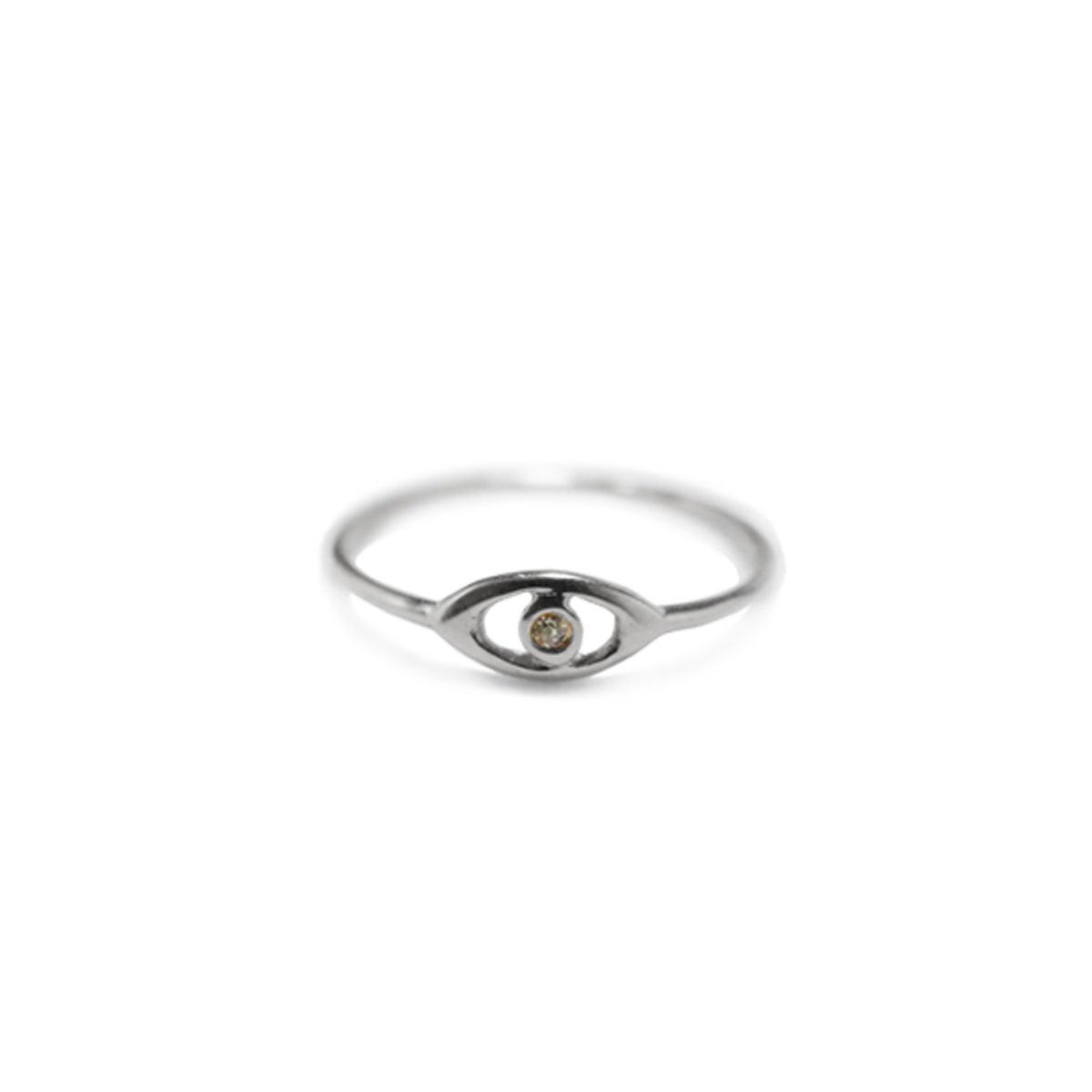 Mini Evil Eye Pinkie Ring