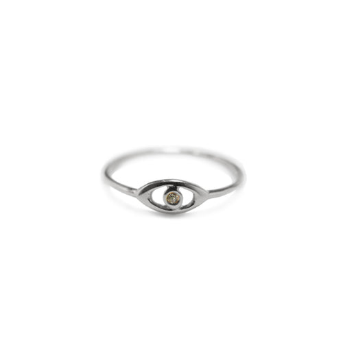 Mini Evil Eye Pinkie Ring .5 GM | .01 CT