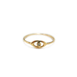 Mini Evil Eye Pinky Ring | .5GMS .01CT
