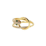 Snake Veve Ring - Emerald | 3.43GMS .25CT