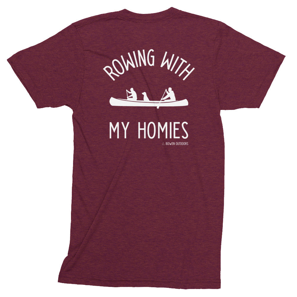 Rowing with My Homies Unisex Tri-Blend T-Shirt
