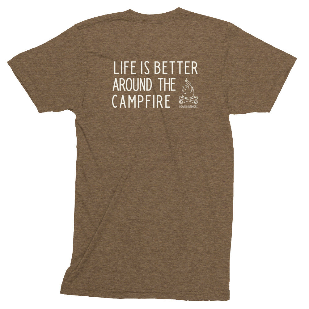 Life is Better Around the Campfire Tri-Blend T-Shirt
