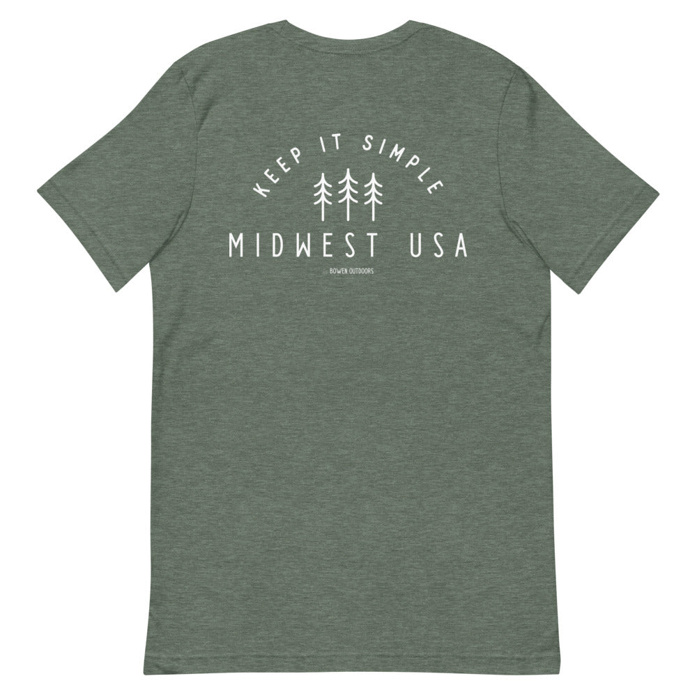 Three Tress Midwest Short-Sleeve Unisex T-Shirt