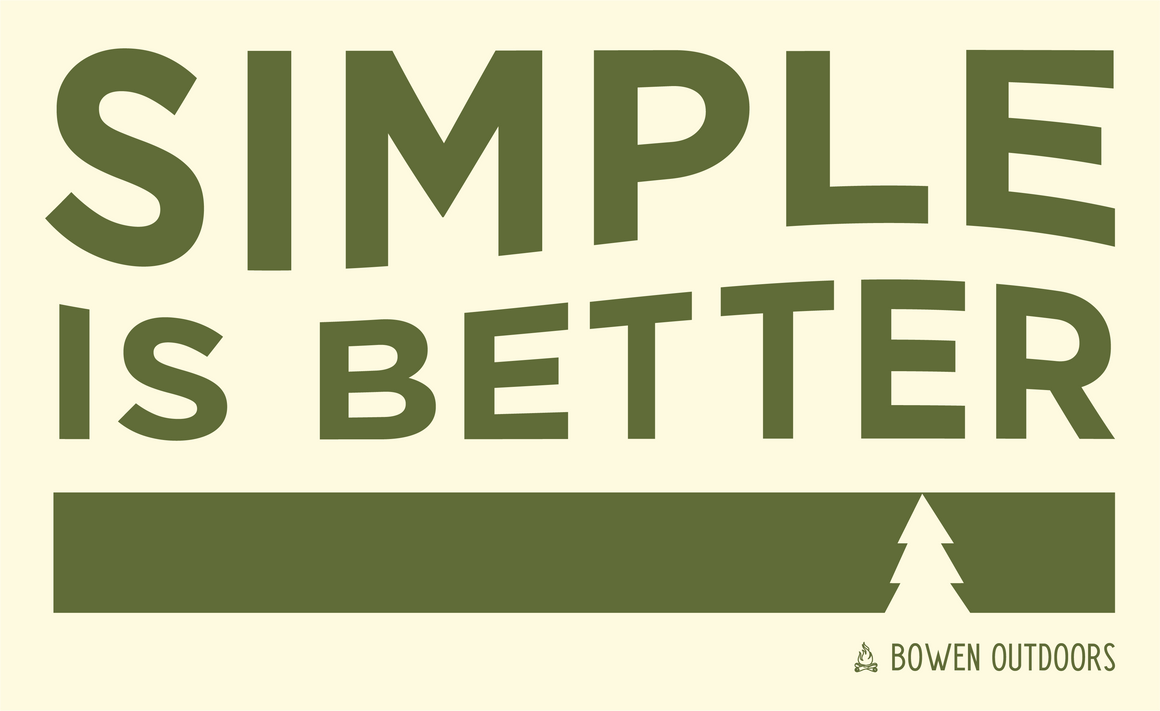 Simple is Better Rectangle Cream Sticker