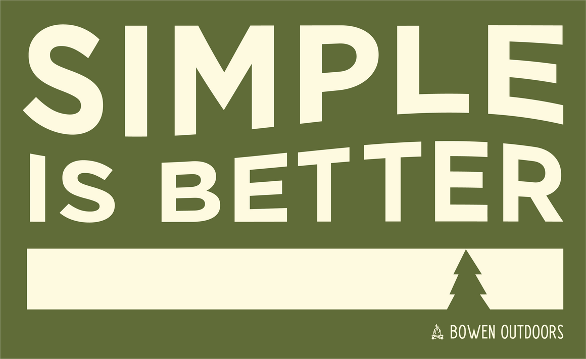 Simple is Better Rectangle Green Sticker