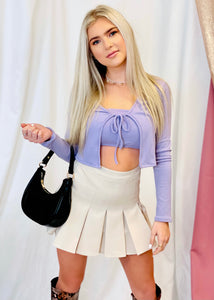 Jenny Tank Top and Cardigan - Lavender