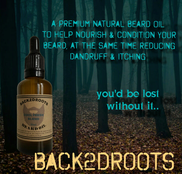 Beard Oil Cool fresh blend - skincare - Back2dRoots