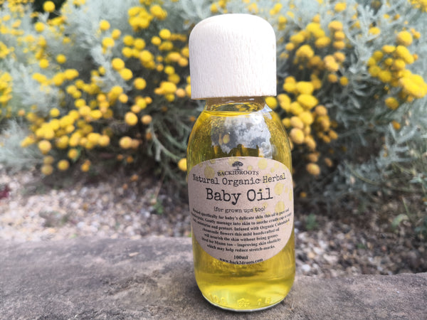 Natural Organic Baby Oil - skincare - Back2dRoots