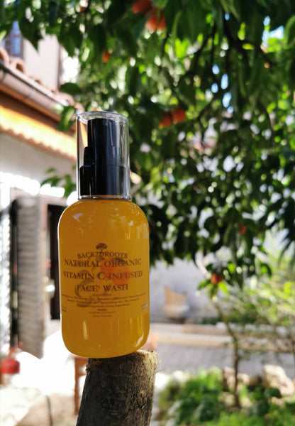 Natural Organic Vitamin C face wash - skincare - Back2dRoots