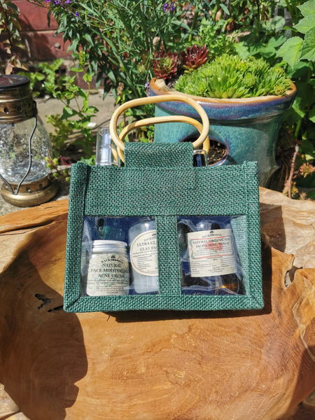 Acne/Oily Facial gift set + African black soap wash
