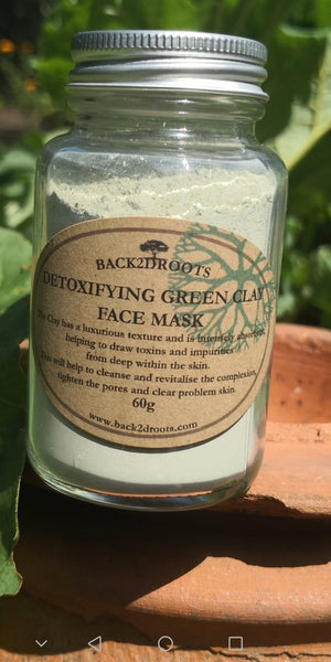 Detoxify Green clay mask  60g - skincare - Back2dRoots