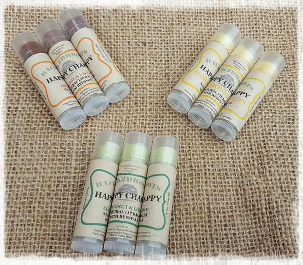 Happy Chap Organic Lip Balm  Yemeni Sidr Honey & Lemon - skincare - Back2dRoots