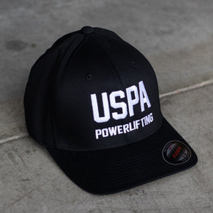 USPA Powerlifting Fitted Hat (Black)