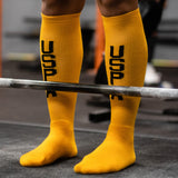 USPA Deadlift Socks - Gold/Black