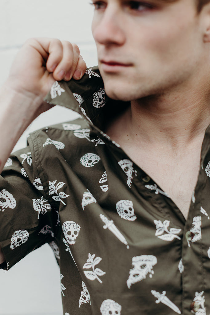 Pizza Slayer Button-Up