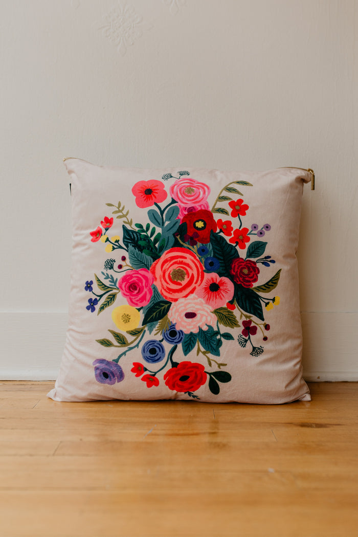 Rifle Pink Floral Pillow