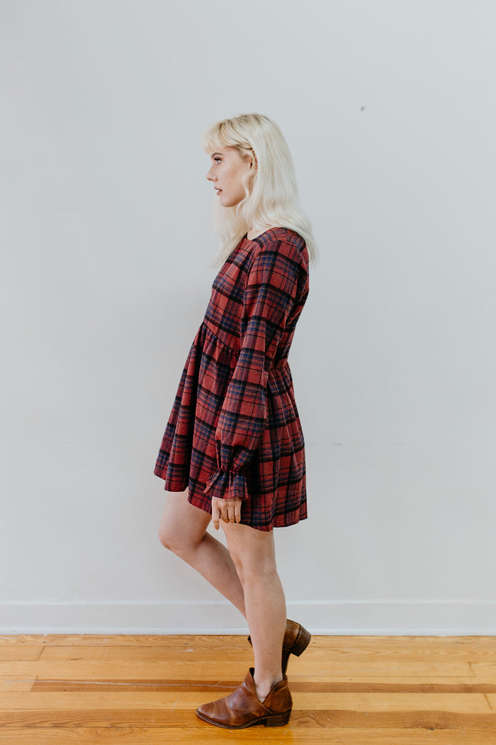 Fireside Flannel Smock Dress