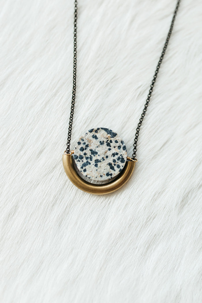 Sun and Moon Necklace (Jasper)