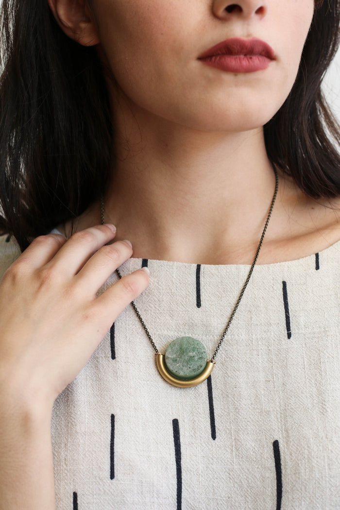 Sun and Moon Necklace (Aventurine)