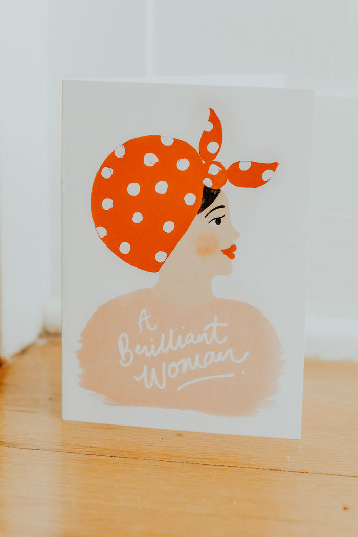 A Brilliant Woman Card