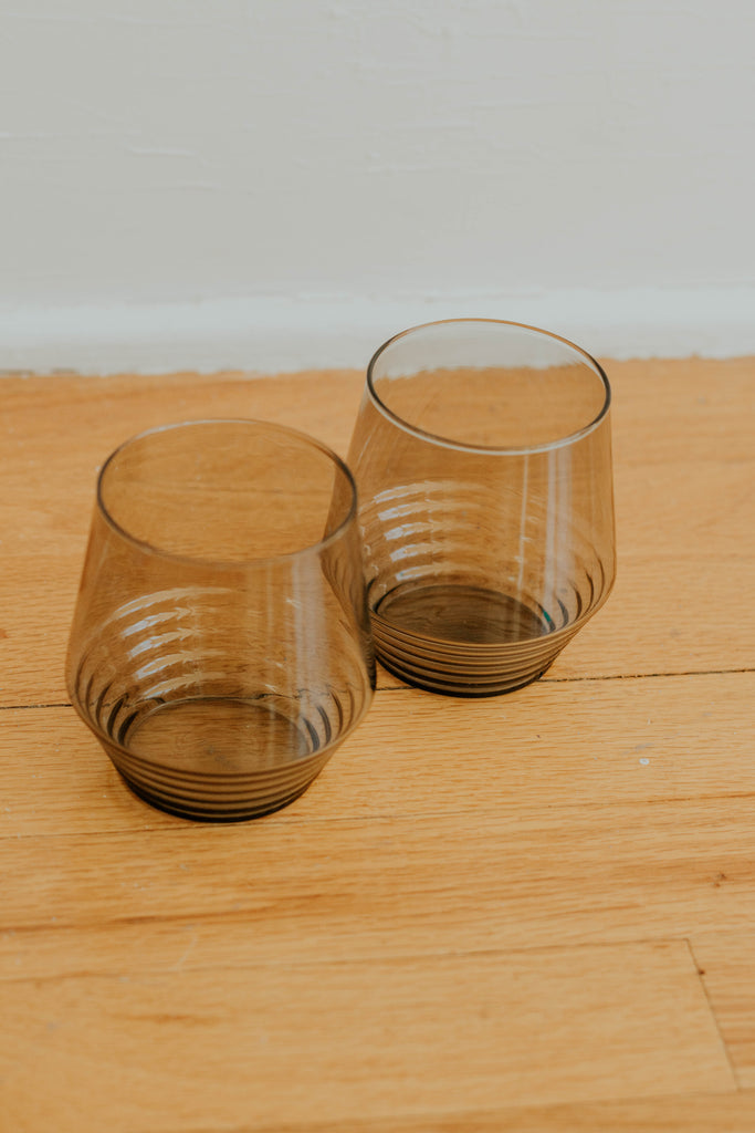 Smoke Deco Cocktail Glasses