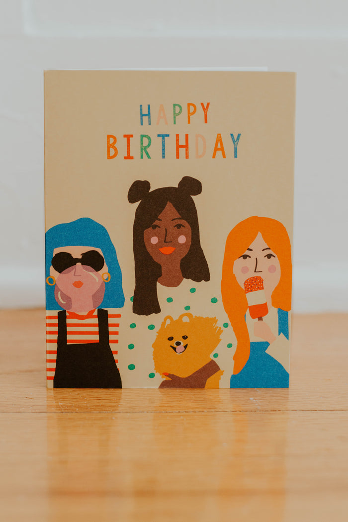 Girl Party Card