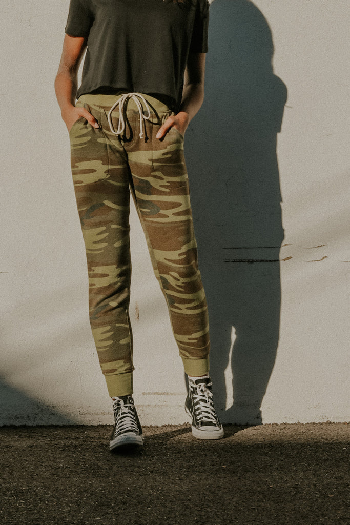 Printed Fleece Jogger Camo