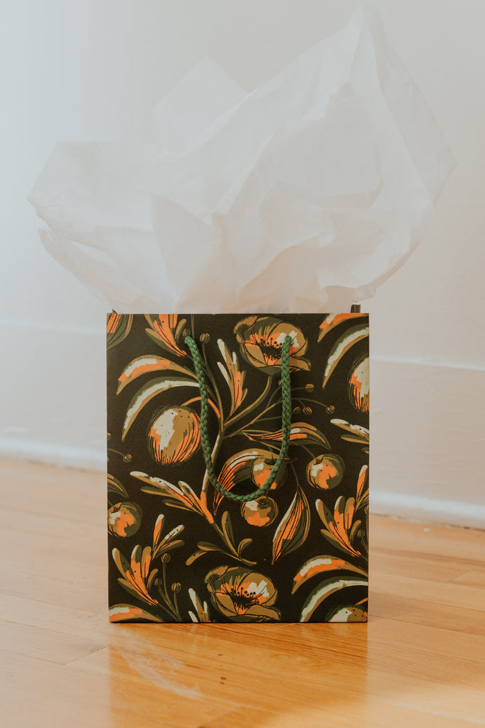 Midnight Flowers Gift Bag