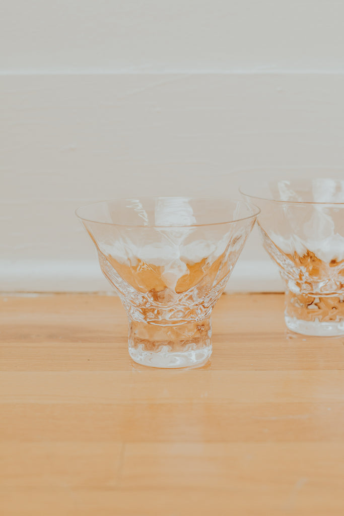 Gem Crystal Martini Glasses